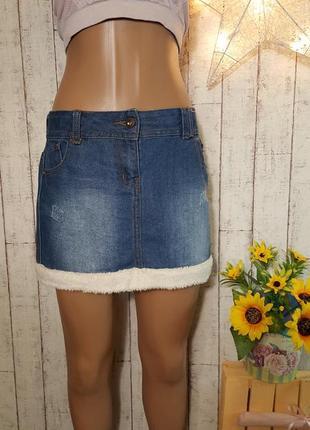 Крутая джинсовая юбка от george размер 12 - 13 лет или взрослый xs