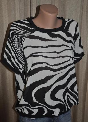 Шифоновая блуза принт зебра