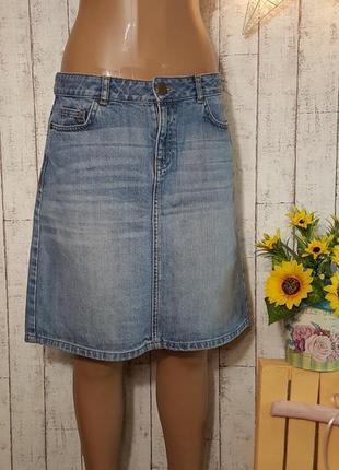 Крутая трендовая олдскульная джинсовая юбка fat face размер м -  l