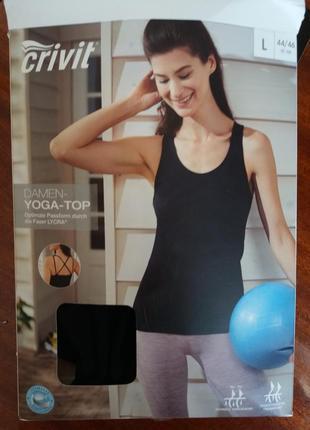 Женский спортивный йога топ с утягивающим эффектом crivit