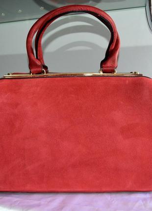 Женская сумка замшевая gernas (натуральная замша+кожзам) ремень через плече  в комплекте1 ... 568b2571554