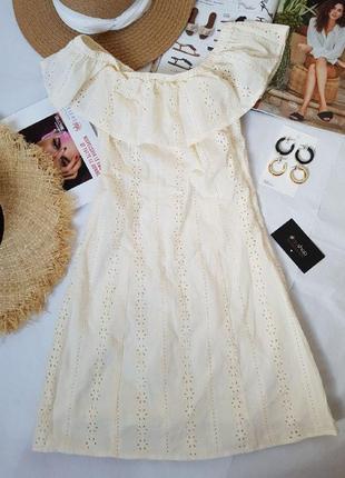Платье с открытыми плечами, h&m! оригинал, из германии!