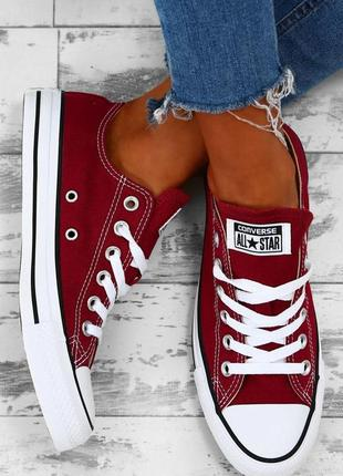 Оригинал унисекс кеды converse all star ox maroon eur 36