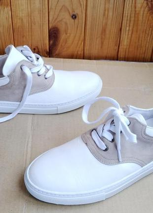 Новые шикарные стильные полностью кожаные кроссовки мокасины amb