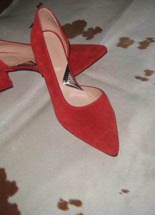 Стильные туфли с натуральной замши