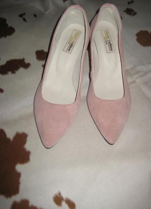 Стильные туфли с натуральной замши3 фото