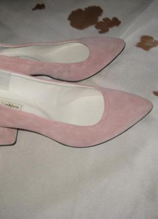 Стильные туфли с натуральной замши4 фото