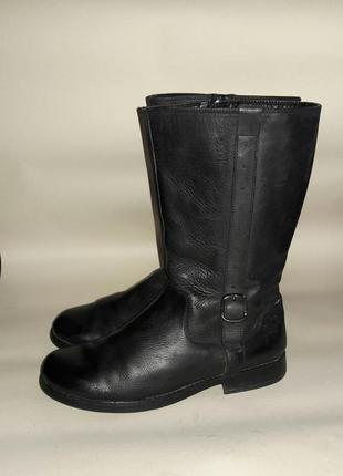 Сапоги clarks  37-38размер кожаные по стельке 24см