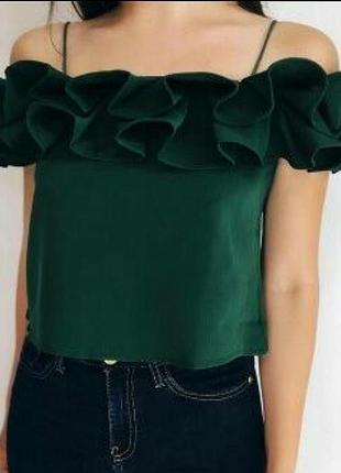Блуза с рюшей