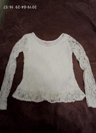 Блуза гипюровая кружевная bershka