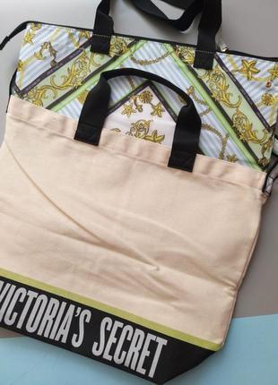 Victorias secret 2 в1: пляжная сумка и кулер от victoria's secret сумка холодильник