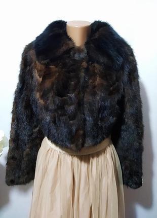 Норковая укороченная шубка куртка полушубок болеро