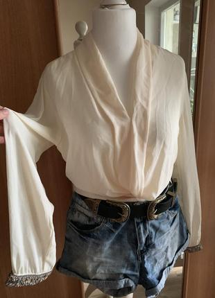 Блуза с шалевым воротником🦋