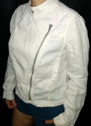 Indigo m&s косуха куртка 100% лен летний жакет