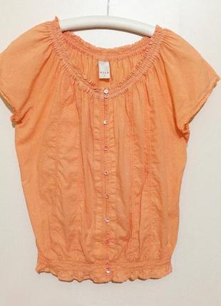 Оранжевая блузка / блуза