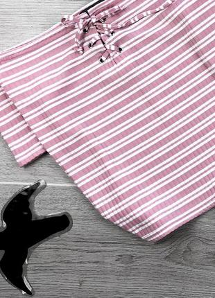 Крутая футболка /кроп с спущенными плечами в полоску  4xl primark3 фото