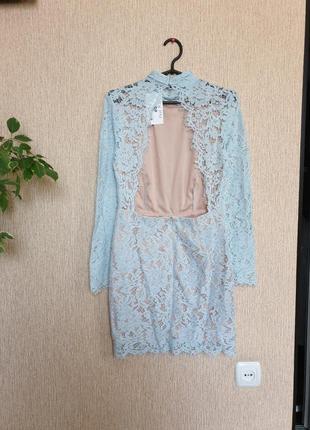 Нежное, красивое, нарядное платье с открытой спинкой in the style