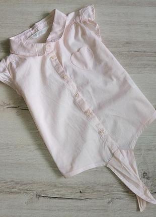 Летняя хлопковая рубашка без рукавов