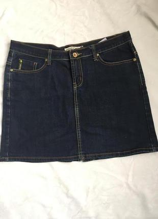 Супер юбка джинсовая стреч раз l (48)