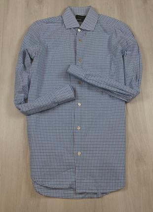 Приталенная рубашка paul smith пол смич пол мужская клетчатая в клетку