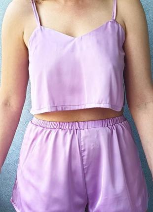 Шёлковая пижама/пижама из шёлка/летняя пижама из шёлка/комплект для сна/майка шорты