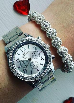 Женские наручные часы geneva silver годинник