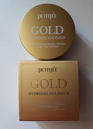 Патчи для глаз с золотым гидрогелем, petitfee gold hydrogel eye patch 60 шт