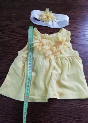 Летнее платье с повязкой lc waikiki, 1-3 месяца