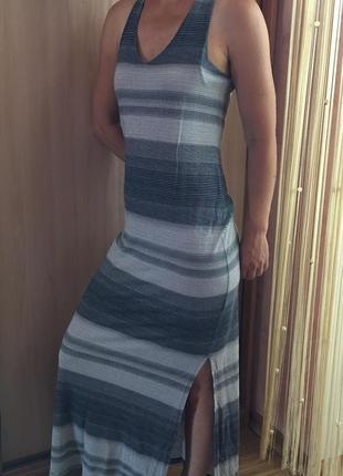 Длинный сарафан миди платье в пол миди