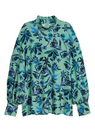 Блузка с воротником стойкой h&m
