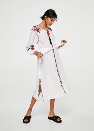 Mango платье вышиванка, s, m4 фото