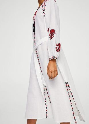 Mango платье вышиванка, s, m6 фото