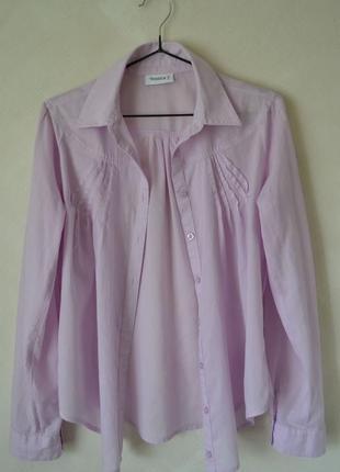 Блузка-рубашка / цвет нежно сиреневый / размер - 34_38