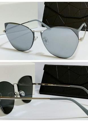 Новинка крутые женские очки серые ( код 7045)