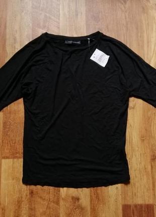 Черная блуза с рукавами летучая мышь
