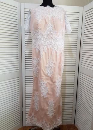 Стильное нарядное длинное платье