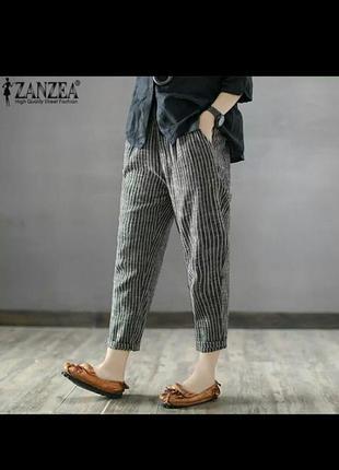 Летние полосатые брюки