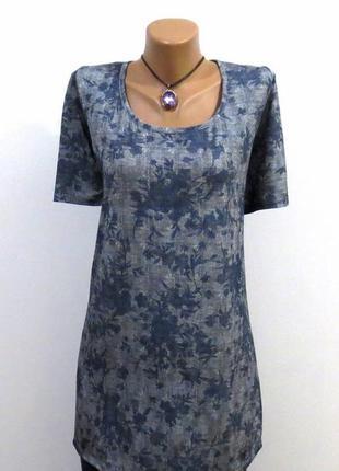 Роскошная футболка удлиненная туника идеальна для базового гардероба размер: 48-l