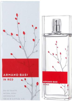 Оригинал armand basi in red edt 100ml тестер