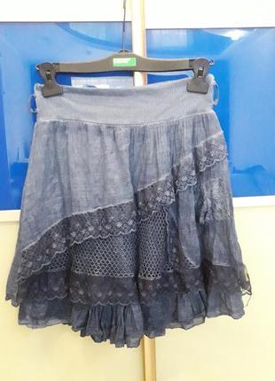 Лёгкая воздушная юбка из натуральной ткани