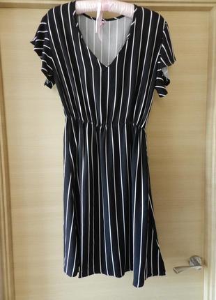 ✅стильное платье в модную полоску размеры с\м\ материал штапель-коттон