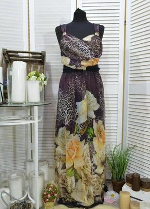 ✅ шифоновое платье в пол размер 46