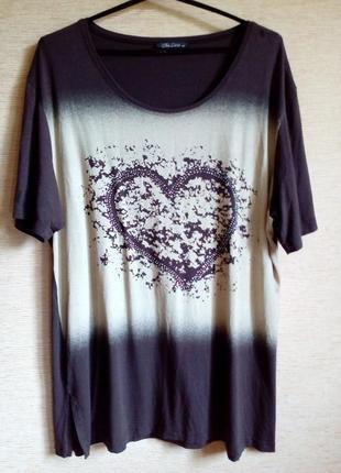 Хлопковая футболка с принтом сердце