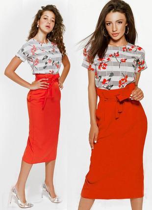 Платье костюм юбка миди + топ  с сайта asos