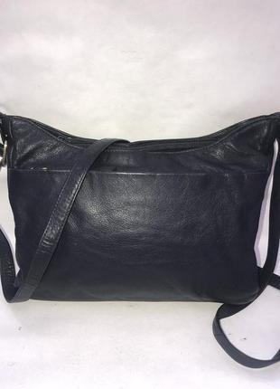 Англия!кожаная практичная сумочка через плечо mia( 3 отделения)