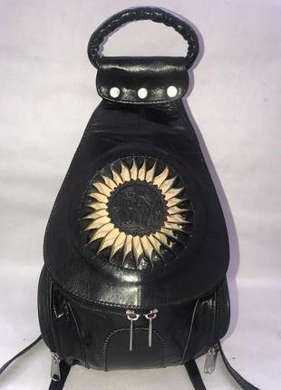 Кожаный городской рюкзак hand made.