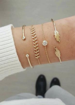 Набор золотых браслетов pull&bear