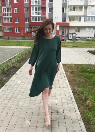 Платье stella milani с волокна эвкалипта (италия) размер m-xl