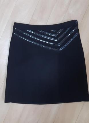 Тёплая чёрная юбка armani jeans