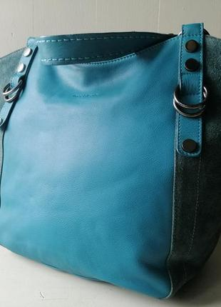 Maddison очень большая сумка. натуральная кожа и замша